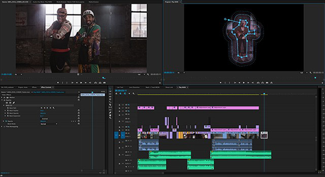 Adobe Creative Cloud Premiere Pro CC 2014: Improved masking